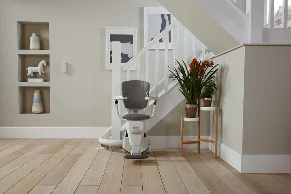 Flow 2 curved stairlift Preston