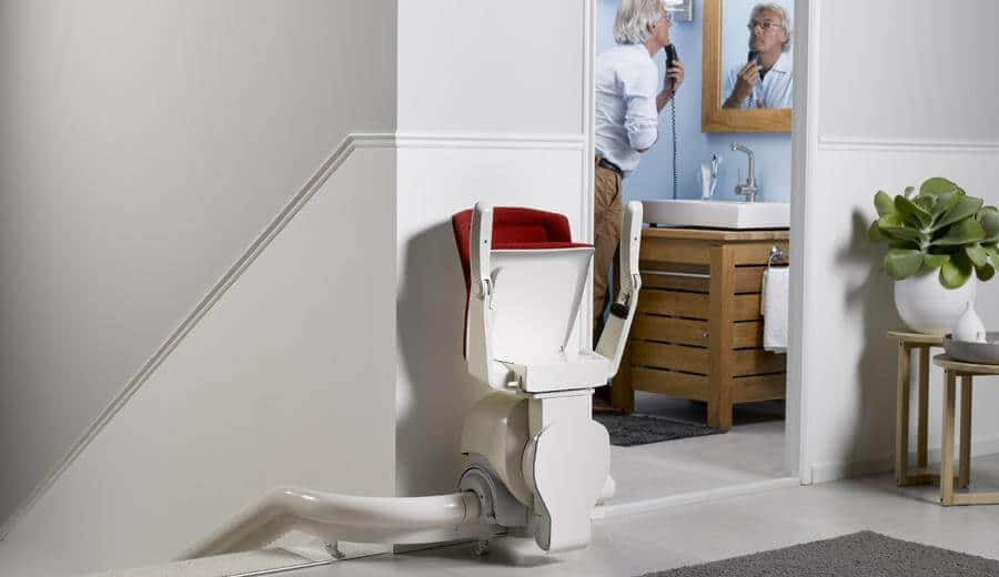Oto Air Curved Stairlift For Narrow Stairs Multicare