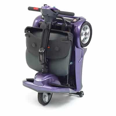 Purple Electric folding scooter