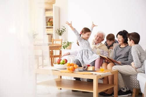 manchester grandparents at home with grandchildren